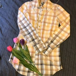 Free People Plaid button down tunic